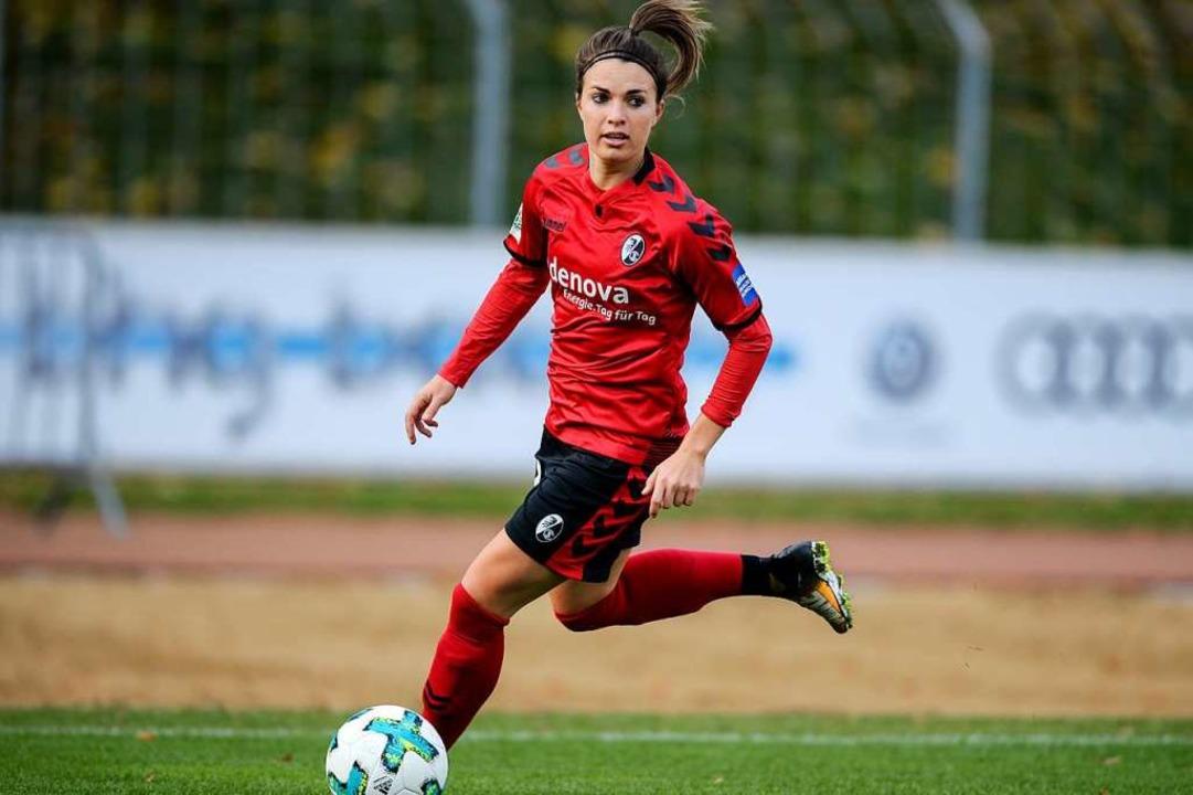 Sandra Starke erzielte einen der sechs Treffer für die SC-Frauen. (Archivbild)    Foto: Patrick Seeger