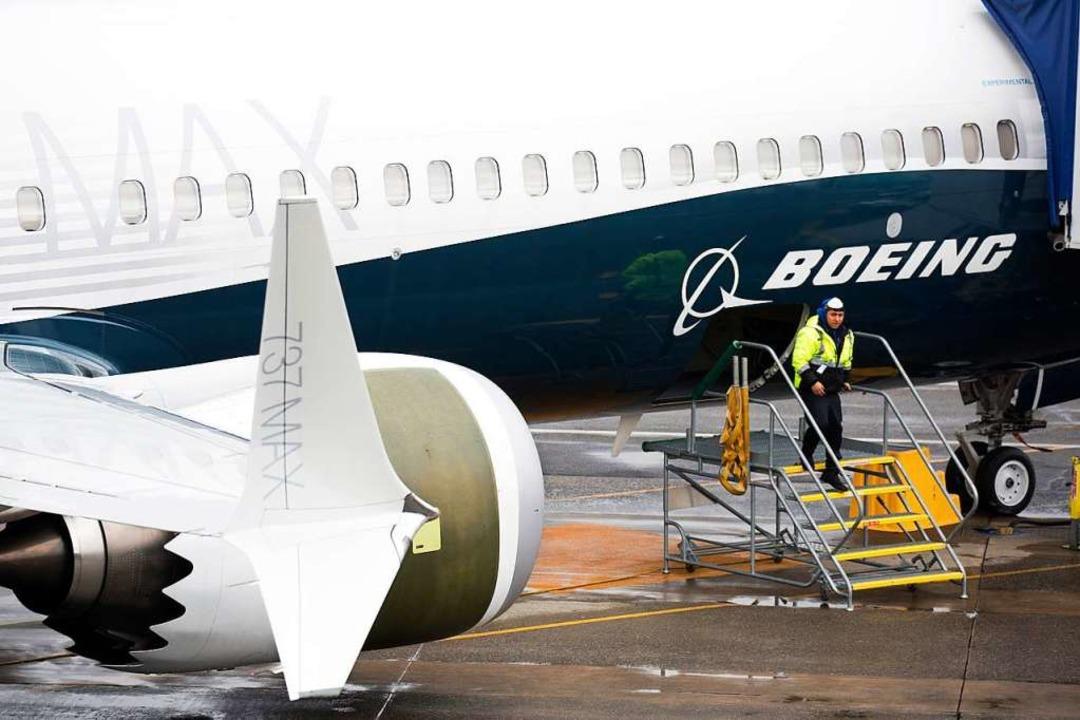 Boeing 737 Max darf auch in den USA nicht mehr fliegen.    Foto: AFP