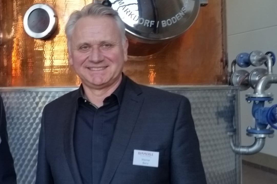 Werner Benz, Chef der Brennerei Bimmerle    Foto: Heinz Siebold