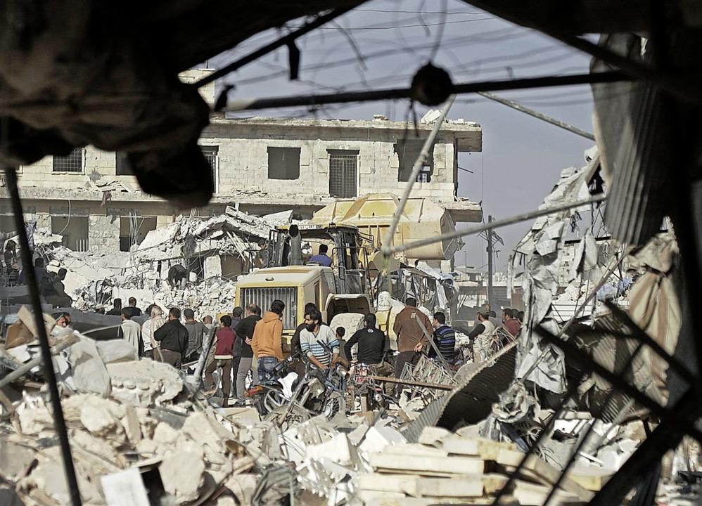 Viele syrische Städte sind zerstört.   | Foto: dpa/obs