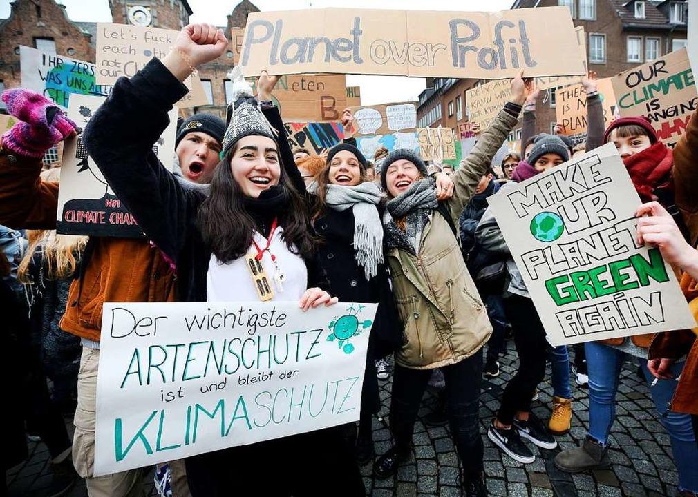 Die Klimastreiks finden am Freitag in 180 Orten in Deutschland statt.