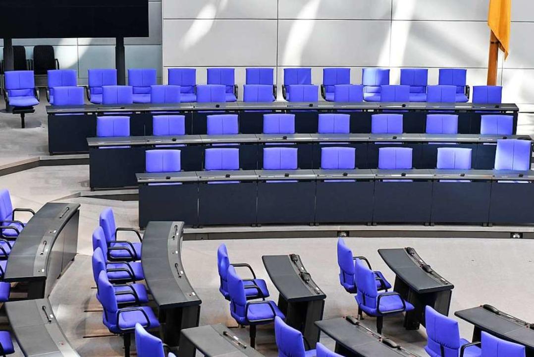 Die Regierungsbank im Bundestag  | Foto: dpa
