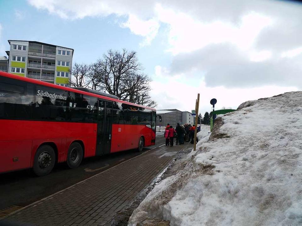 Alternative zum Auto: Der Linienbus 73...zwischen Titisee Bahnhof und Feldberg.    Foto: Mariella Hutt