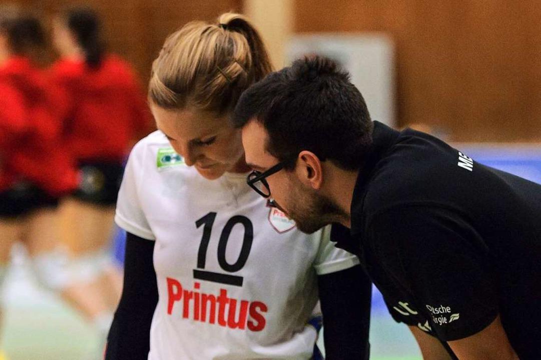 Richarda Zorn mit Trainer Florian Völker, dem sie nachfolgt.  | Foto: Sebastian Koehli
