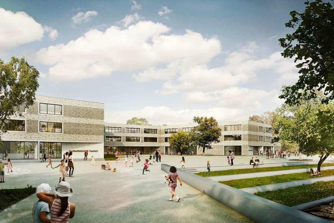 So soll die Staudinger-Gesamtschule nach dem Umbau aussehen.  | Foto: Sacker Architekten