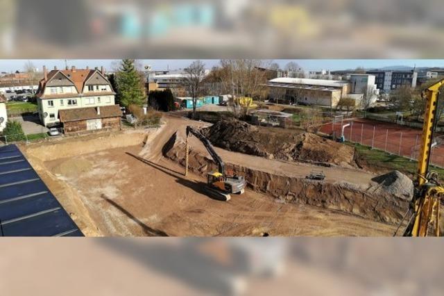 Baugrube für ein 12,4 Millionen-Euro-Projekt