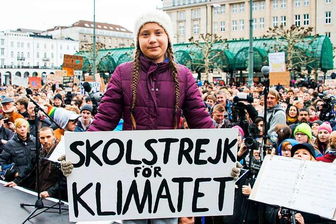 Ikone des Protests: Greta Thunberg  | Foto: dpa