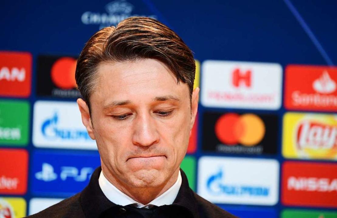 Gefrustet: FC-Bayern-Trainer Nico Kova...1:3-Niederlage gegen den FC Liverpool   | Foto: dpa