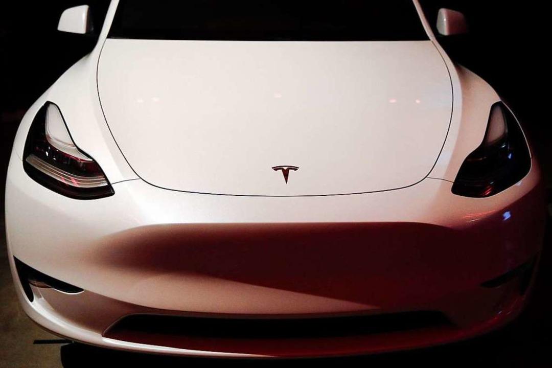 Das neue Tesla Model Y wird vorgestellt.  | Foto: dpa