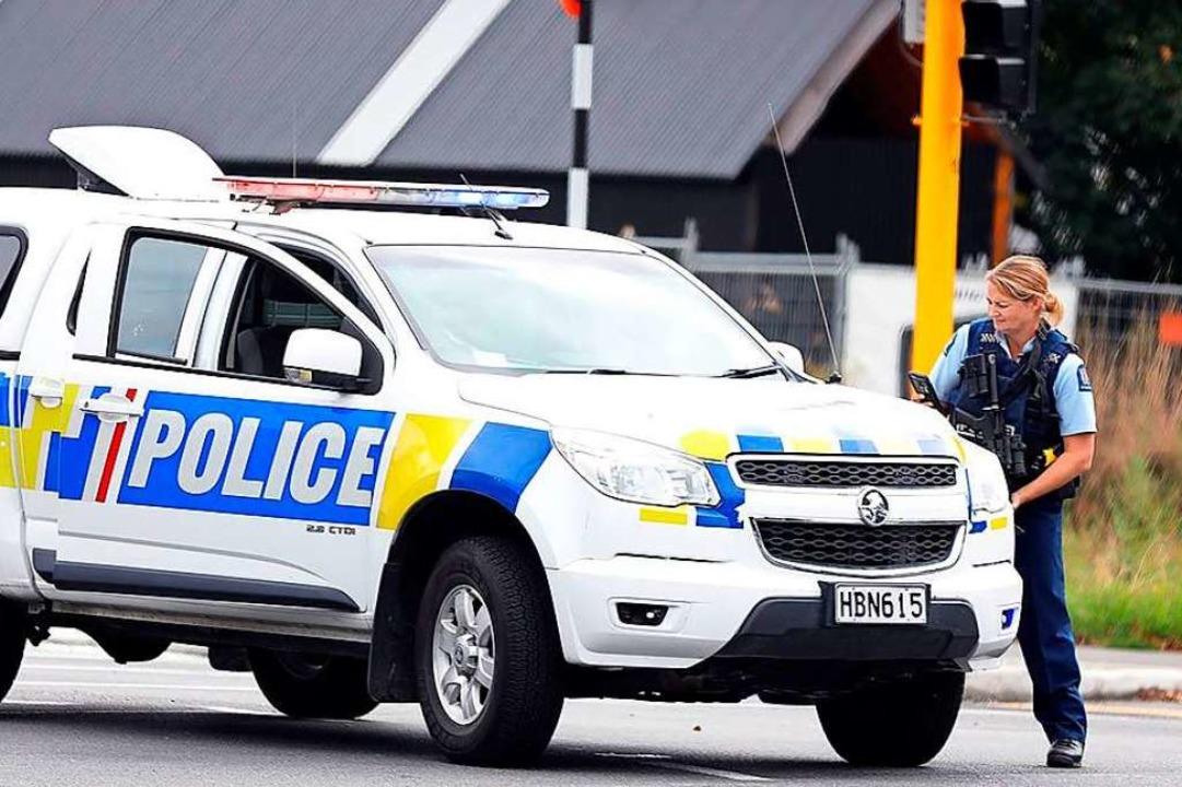 Die Polizei riegelt das Gebiet ab.    Foto: AFP