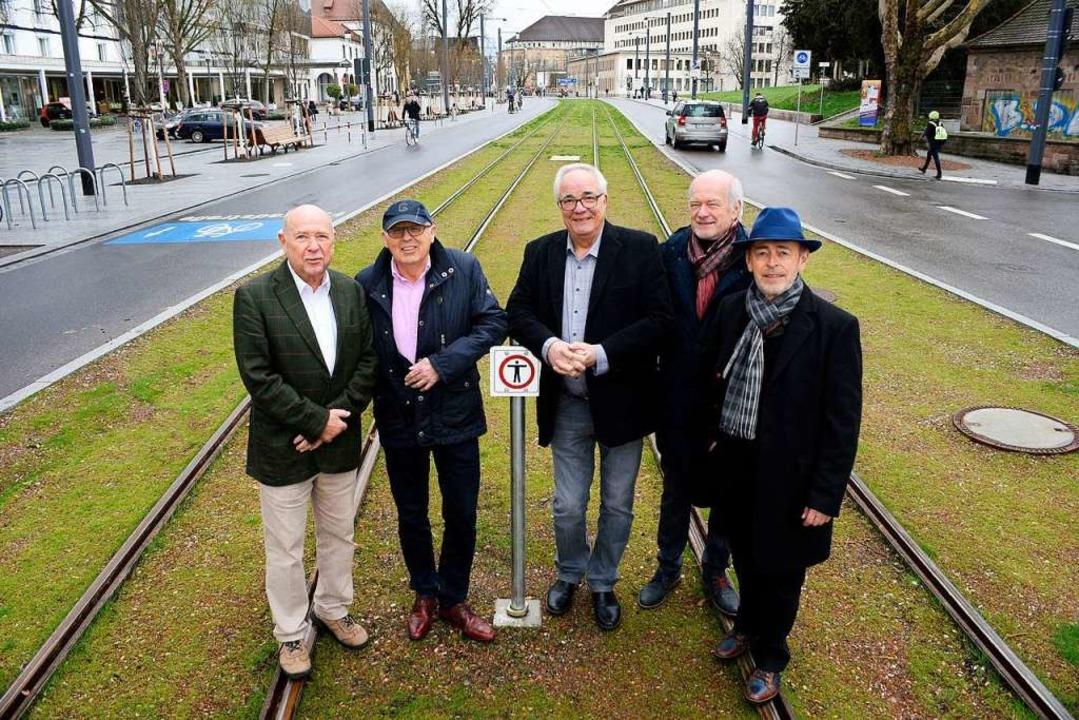 Die Initiatoren des Bürgerentscheids v...iedemann und Johann Bogel (von links)   | Foto: Thomas Kunz