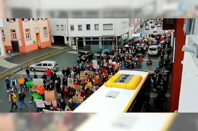 Mehr als 150 Schülerinnen und Schüler demonstrieren in Lahr