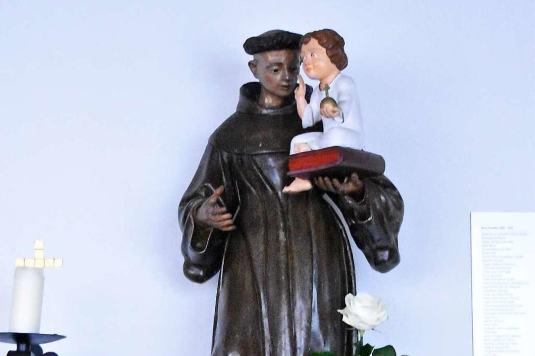 Antonius mit Jesuskind in  Denzlingens Josefskirche    Foto: Manfred Frietsch