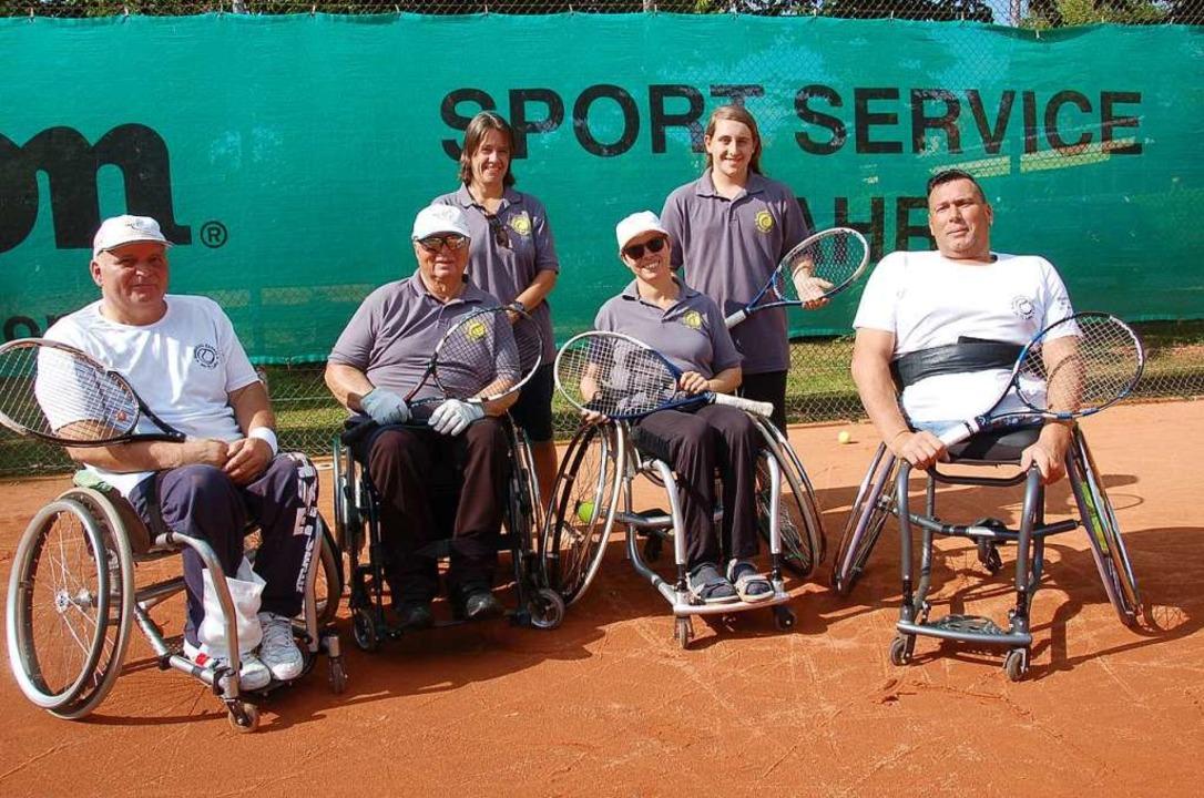 Seit 2012 wird beim Lahrer Tennisclub in Lahr Rollstuhltennis gespielt.  | Foto: Wolfgang Beck