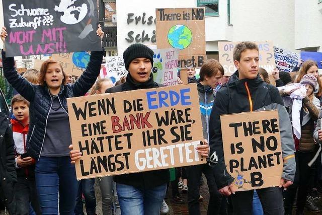Rund 750 Schülerinnen und Schüler machen in Bad Säckingen auf sich aufmerksam