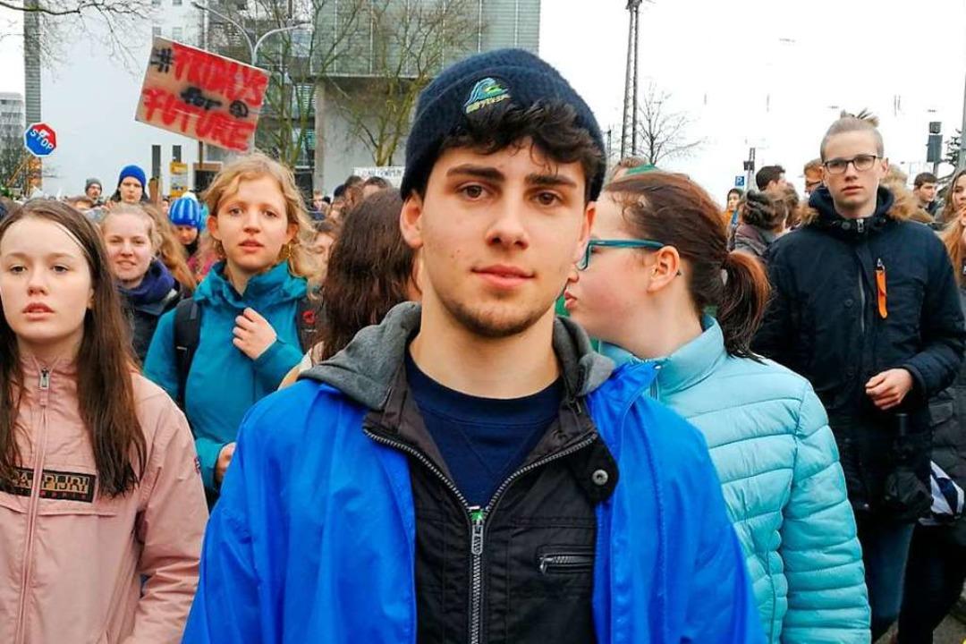 Tariel Leiss hat die Fridays-for-Future-Bewegung nach Freiburg geholt.  | Foto: Anika Maldacker