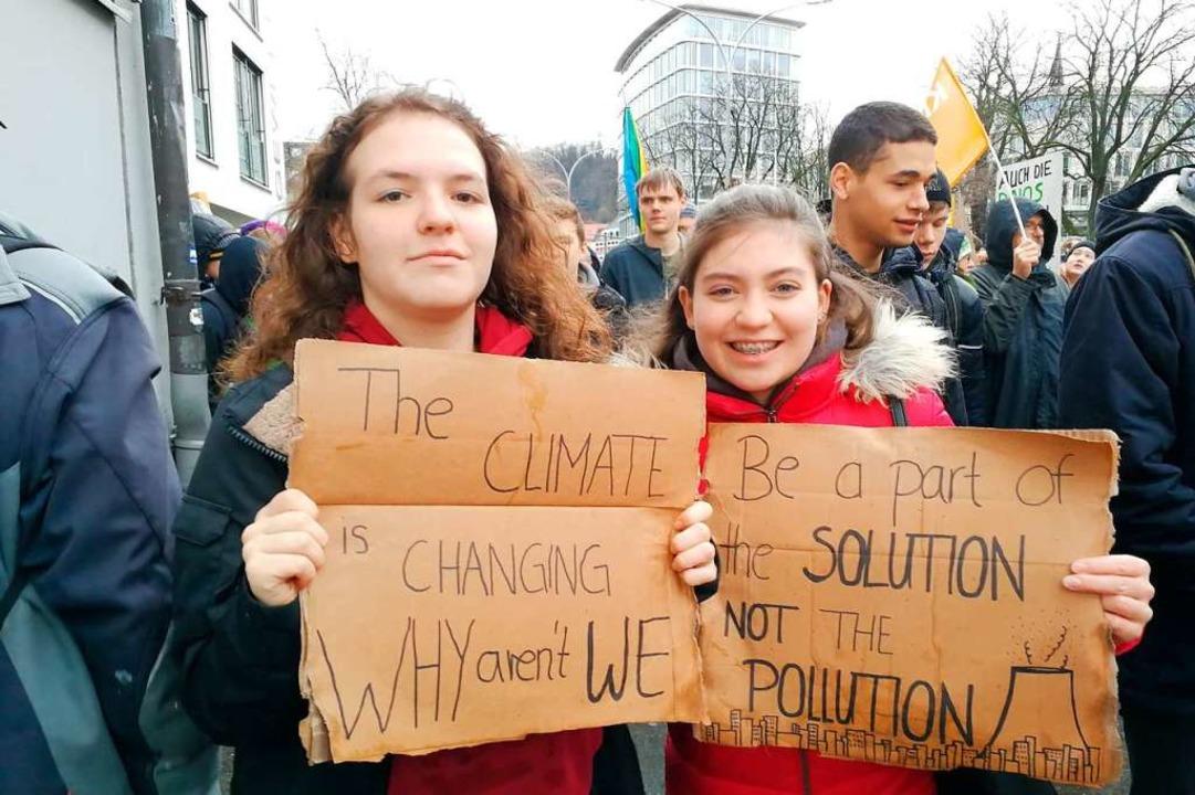 Imke Franzen (links) und  Luana Braits... Future  aus Bad Säckingen angefahren.  | Foto: Anika Maldacker