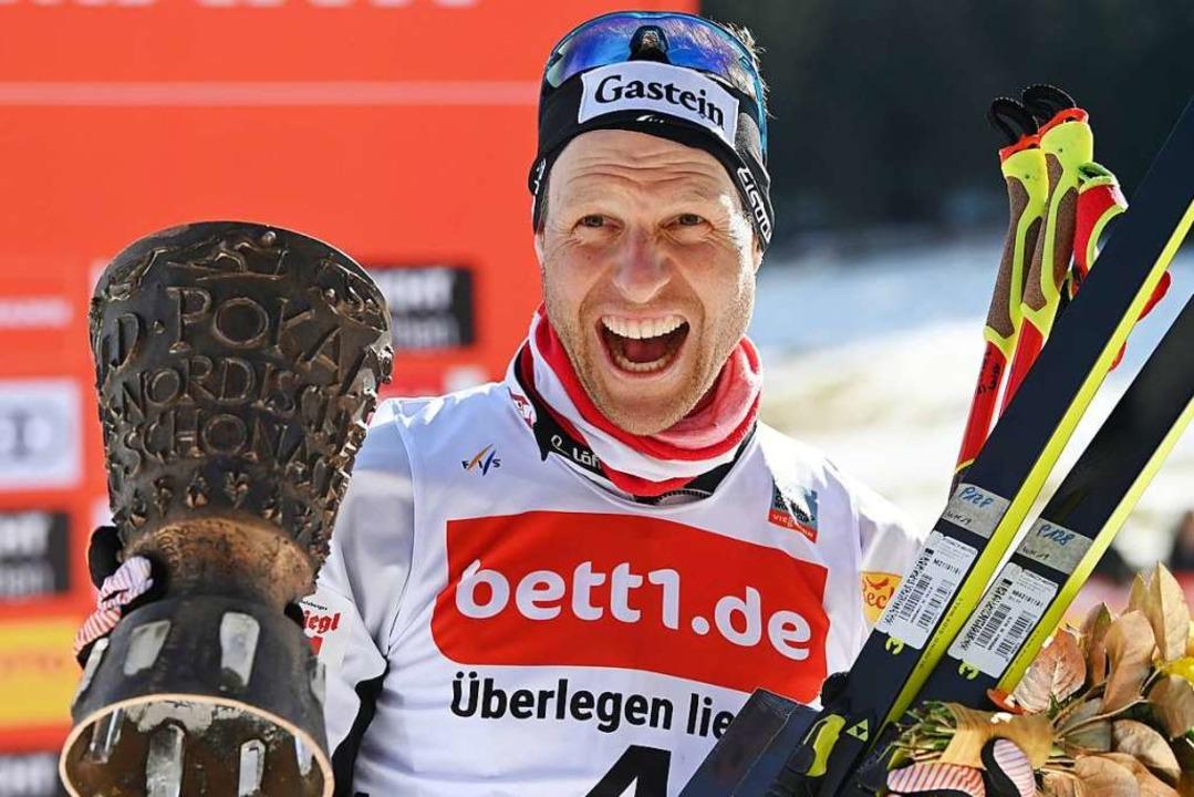 Bernhard Gruber gewinnt den Schwarzwaldpokal in Schonach.  | Foto: dpa