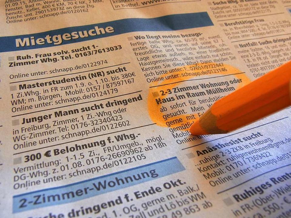 Die Nachfrage nach Wohnungen in Freibu... zieht es daher ins Freiburger Umland.  | Foto: Alexander Huber
