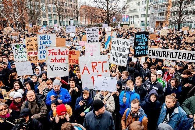 Demonstration für die Freiheit im Internet am Samstag in Freiburg