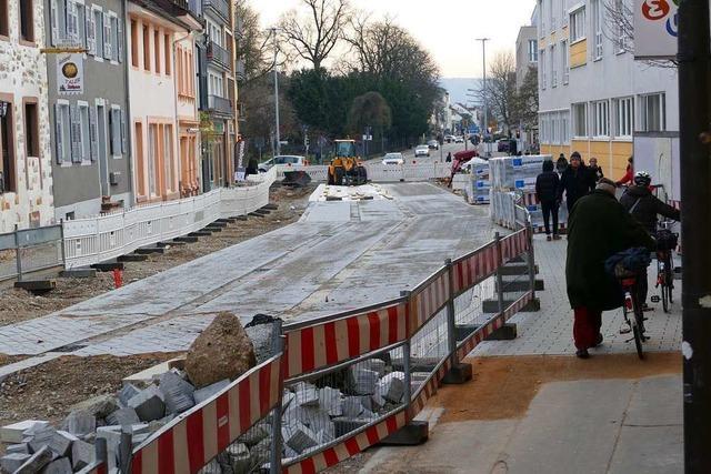 Es läuft nicht ganz rund an der Baustelle Basler Straße Nord
