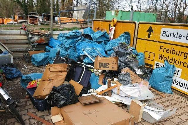 Stadtputzer finden weniger Müll, aber viele Kippen