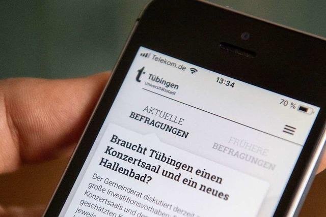 Tübingen hat jetzt eine eigene App für Bürgerbefragungen