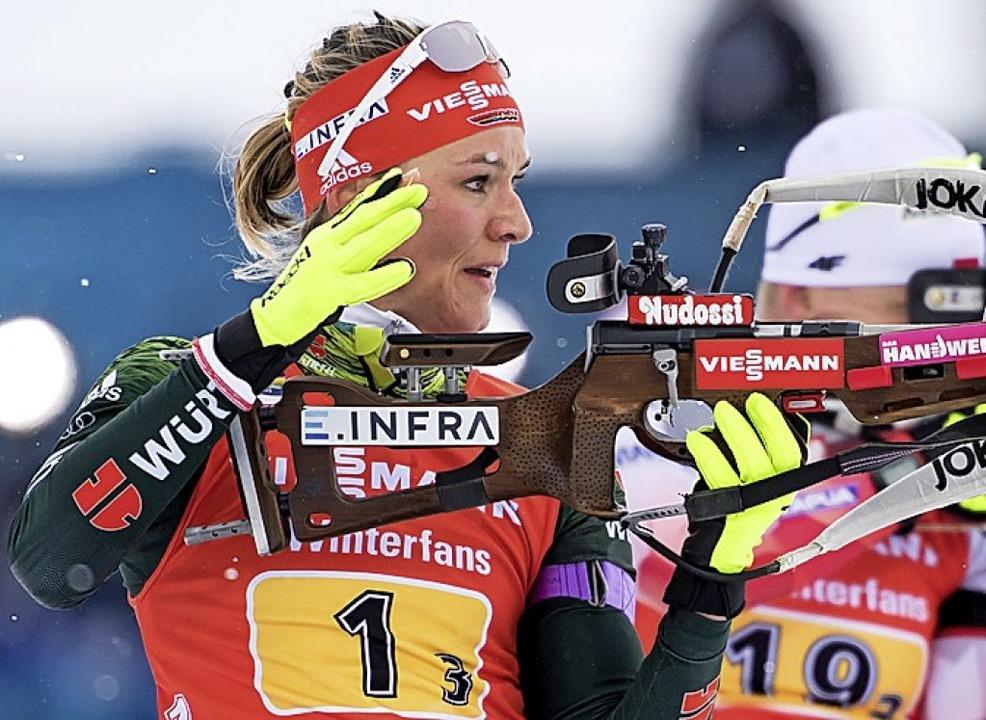 Denise Herrmann gewann Bronze im Massenstart.   | Foto: dpa
