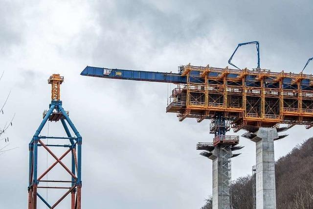 Bei Göppingen wird die dritthöchste Eisenbahnbrücke Deutschlands gebaut