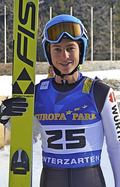 Quirin Modricker vom SC Hinterzarten g... 17 Bronze im Einzel und Gold im Team.  | Foto: Junkel