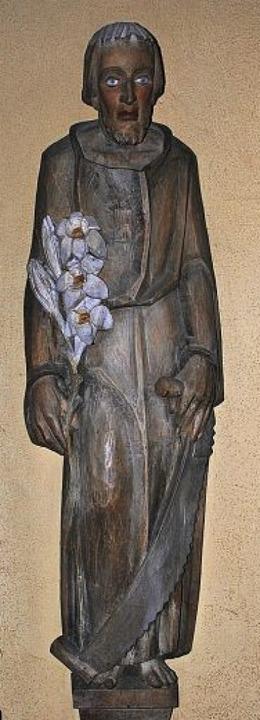 Schlicht ist die Josefsfigur  mit Stab...er Kirche St. Hilarius in Bollschweil.  | Foto: Manfred Frietsch