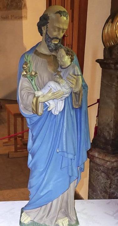 Statue vom heiligen Josef in der Johannes Kapelle Zarten  | Foto: Franz Asal