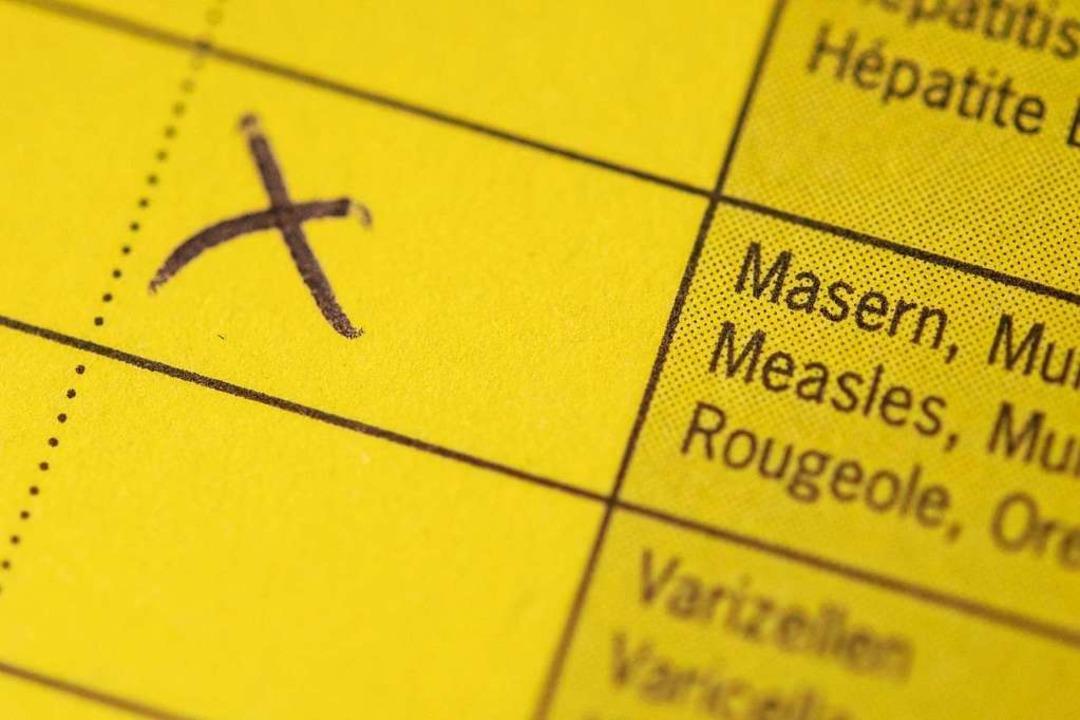 Impfung gegen Masern: Laut Gesundheits...en und zweiten Lebensjahres empfohlen.    Foto: dpa