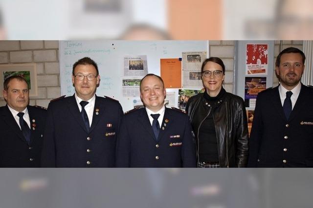 Feuerwehr Haagen übt und schult fleißig