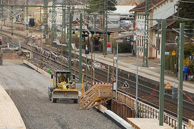 Ausbau der Rheintal-Bahnstrecke in Haltingen schreitet voran