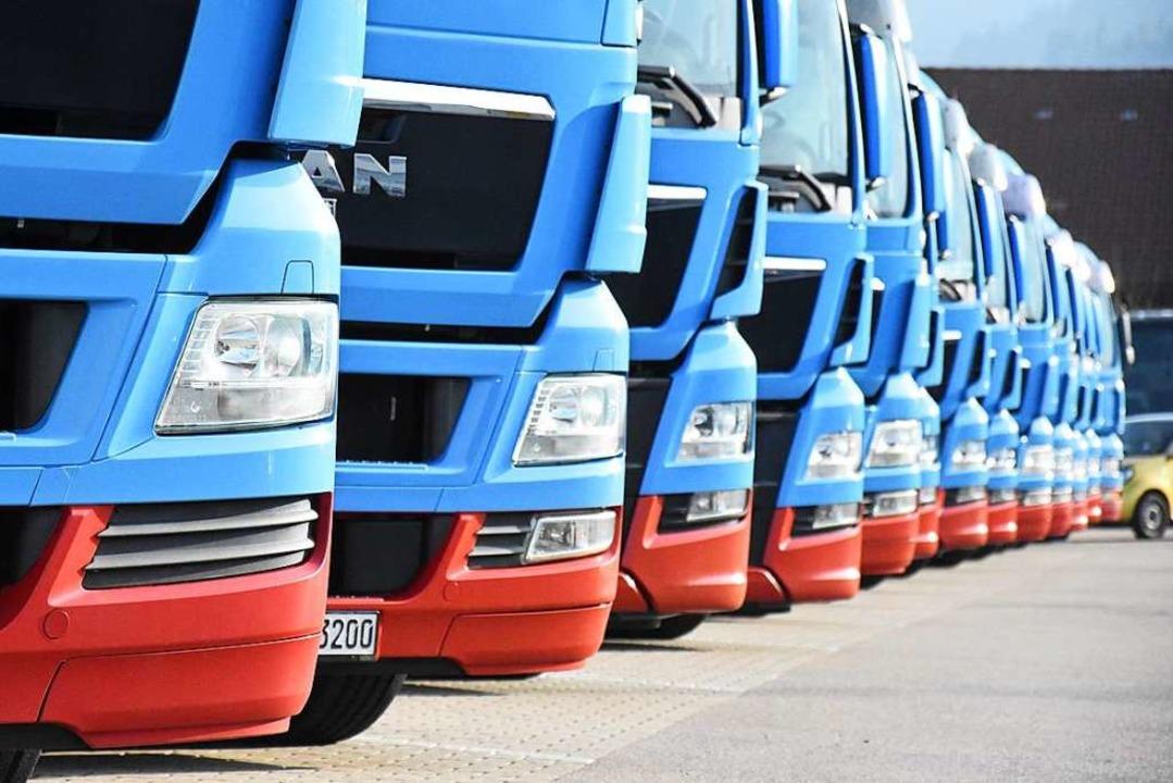Die Güterverkehr hat zugenommen, deswegen stieg der Ausstoß der Treibhausgase.  | Foto: Jonas Hirt