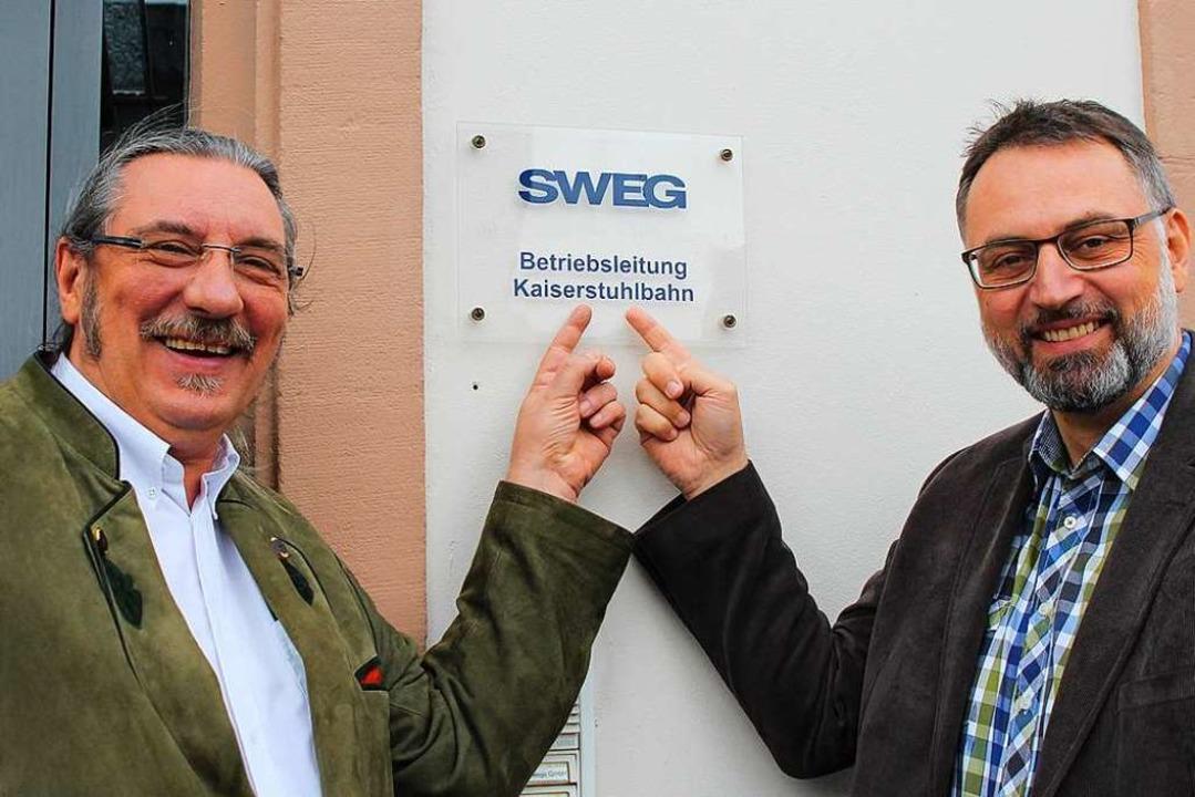 Norbert Lange (links) und  Nachfolger Alexander Blankenburg.  | Foto: SWEG