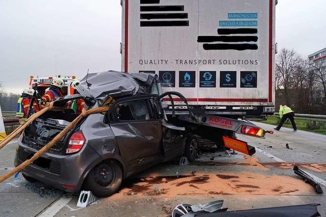 Vor dem Autobahngrenzübergang Weil am Rhein sank die Zahl der Unfälle