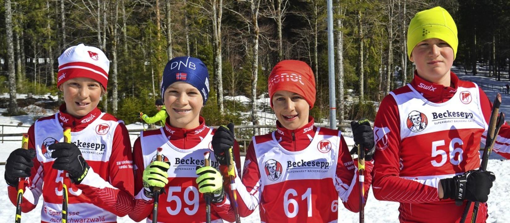 Lauter Kirchzartener im Finale beim Sp...midt, Finn Zurnieden und Luca Wuchter   | Foto: Junkel