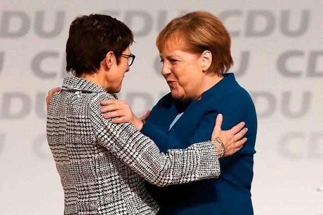 Das Tandem Merkel/Kramp-Karrenbauer kommt gut voran