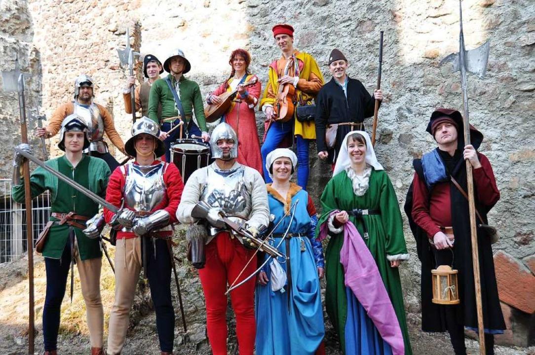 Die Türmergruppe macht die Burgführungen zu einem spannenden Abenteuer.  | Foto: Hubert Bleyer