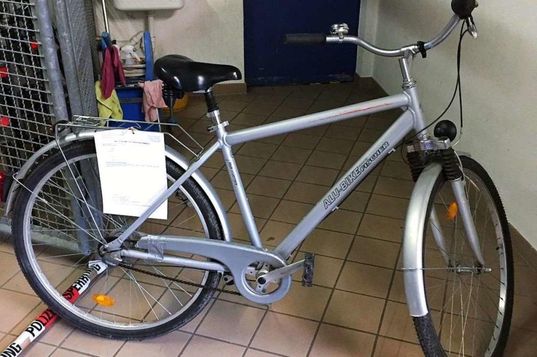 Rad Nummer 1: Wem gehört dieses Rad?  | Foto: Polizei