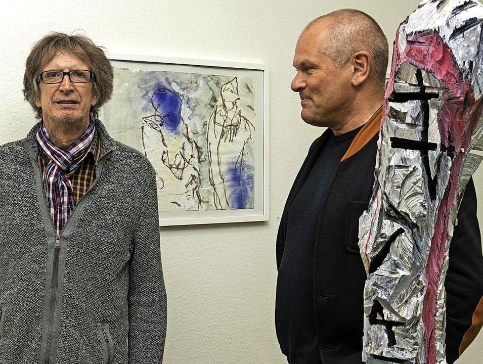 Eine Ausstellung mit Werken des Malers... GeorgScholzHaus-Kunstforum zu sehen.   | Foto: Helmut Rothermel