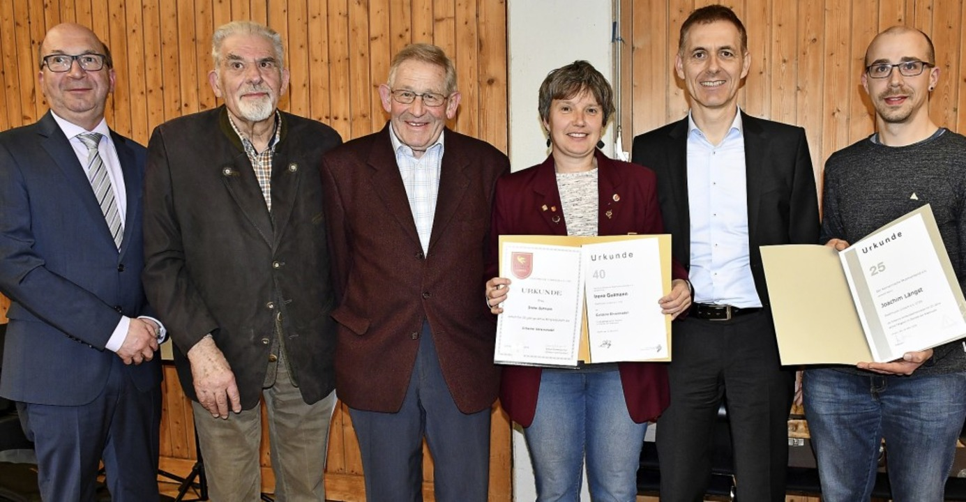 Peter Hässler, Karl Rügamer,  Günter P...rg Lutz und Joachim Längst (von links)  | Foto: Barbara Ruda