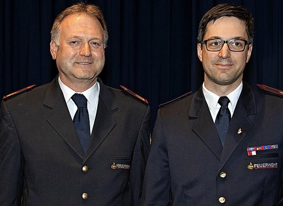 Thomas Häfele (links) zeichnete Marco Morath aus.   | Foto: Münch