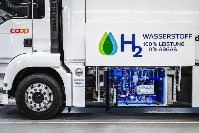 Brennstoffenzellen-Laster transportiert Tonnen über viele Kilometer