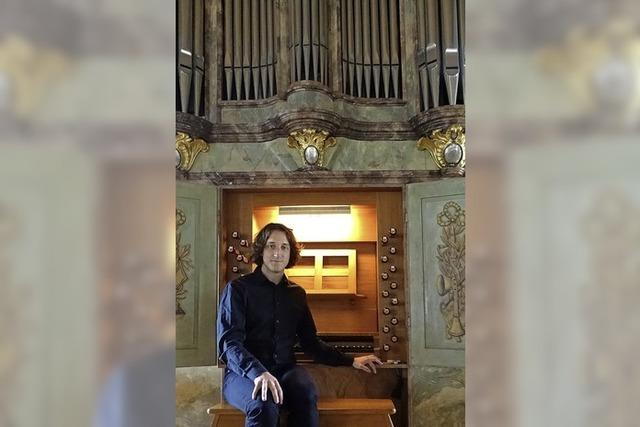 Lukas Grimm spielt in der Jakobskirche