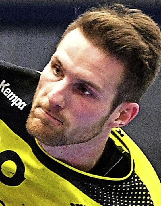 <BZ-FotoAnlauf>Landesliga:</BZ-FotoAnl...iburg: Kreisläufer Patrick Schumacher   | Foto: Seeger