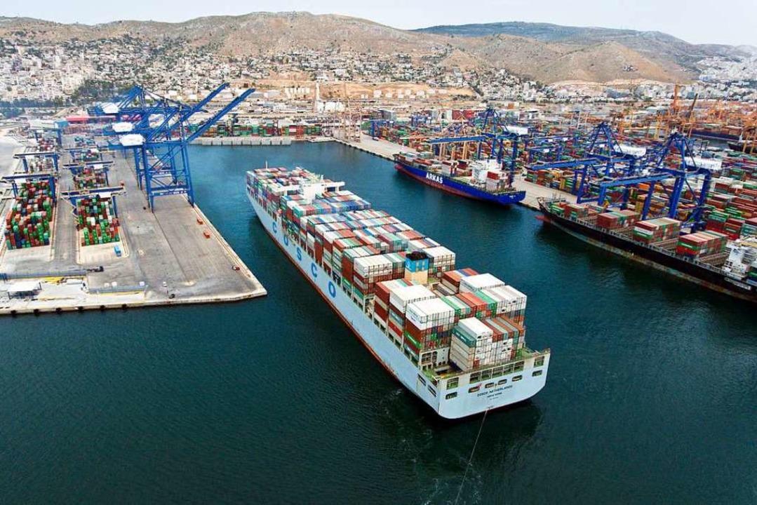 Die Chinesen haben den griechischen Hafen von Piräus übernommen.   | Foto: DPA