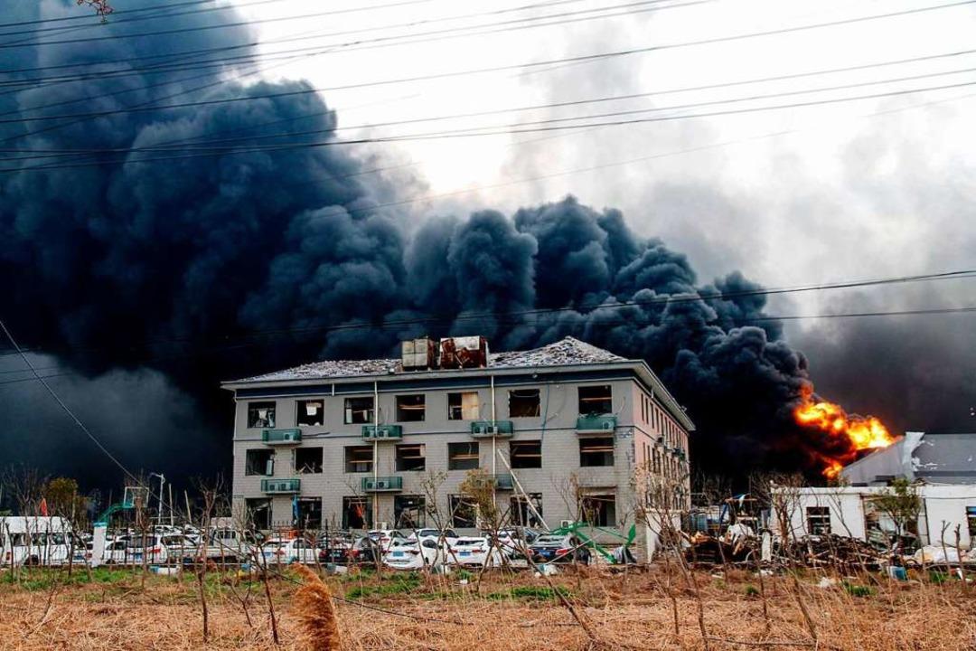 Es ist eines der schwersten Industrieunglücke in China seit Jahren.  | Foto: AFP